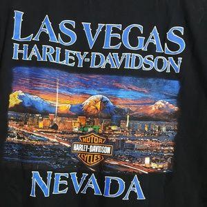 Harley Davidson black graphic tee Las Vegas Nevada